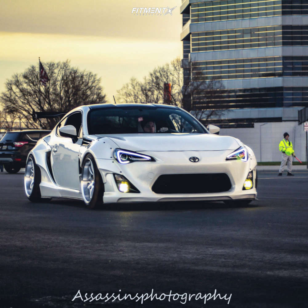 HellaFlush 2013 Scion FR-S with 18x10.5 Aodhan DS02 & Barum Bravuris 3 255/35 on Coilovers - Fitment Industries Gallery