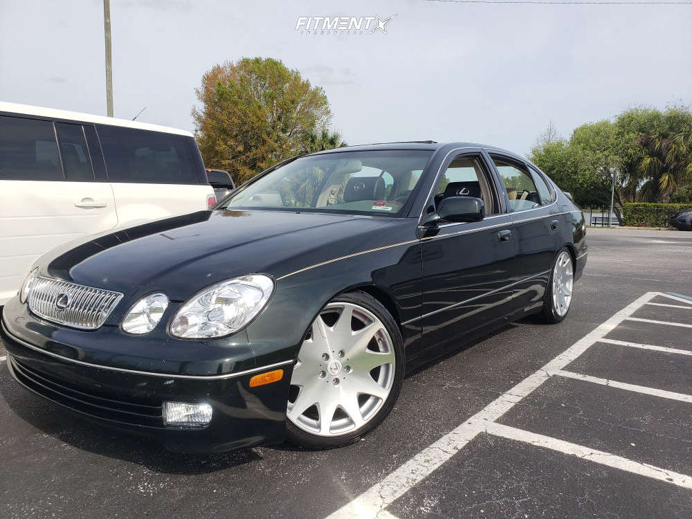 Nearly Flush 2001 Lexus GS300 with 19x8.5 MRR Hr3 & Federal 595 Rpm 225/40 on Coilovers - Fitment Industries Gallery
