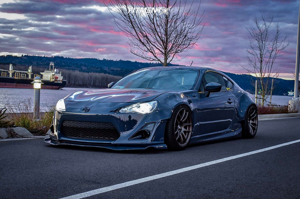 HellaFlush 2013 Scion FR-S with 18x9.5 ESR Sr08 & General G-max Rs 255/35 on Air Suspension - Fitment Industries Gallery