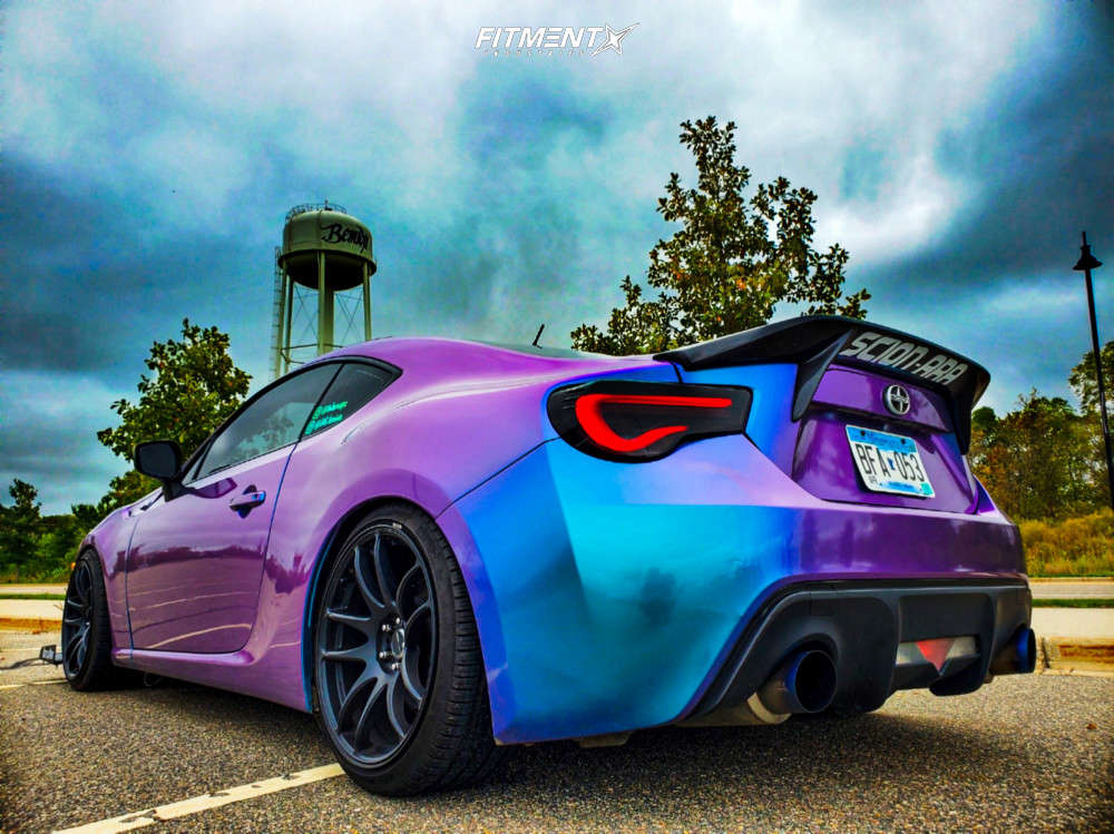 Nearly Flush 2013 Scion FR-S with 18x9.5 Work Emotion Cr Kiwami & Nankang NS-25 245/35 on Coilovers - Fitment Industries Gallery