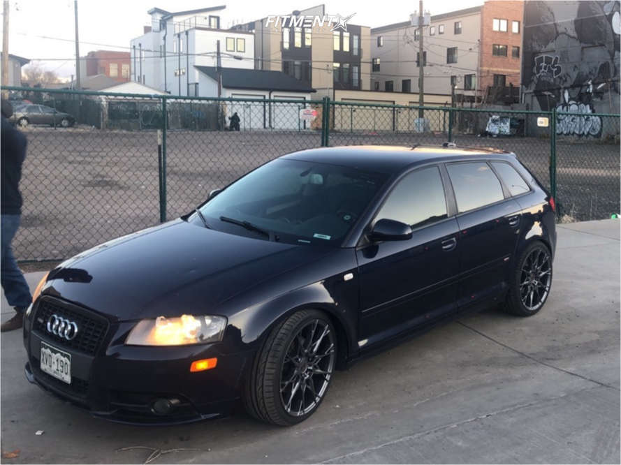 Flush 2006 Audi A3 Quattro with 19x8.5 Niche Staccato & Hankook Ventus As Rh07 235/35 on Coilovers - Fitment Industries Gallery