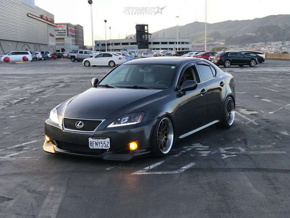 Poke 2007 Lexus IS250 with 18x9.5 Aodhan Ds07 & Firestone Firehawk Indy 500 235/40 on Coilovers - Fitment Industries Gallery