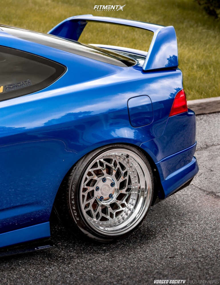 Poke 2006 Acura RSX with 18x10.5 WatercooledIND Md1 & Nankang NS-25 225/40 on Air Suspension - Fitment Industries Gallery