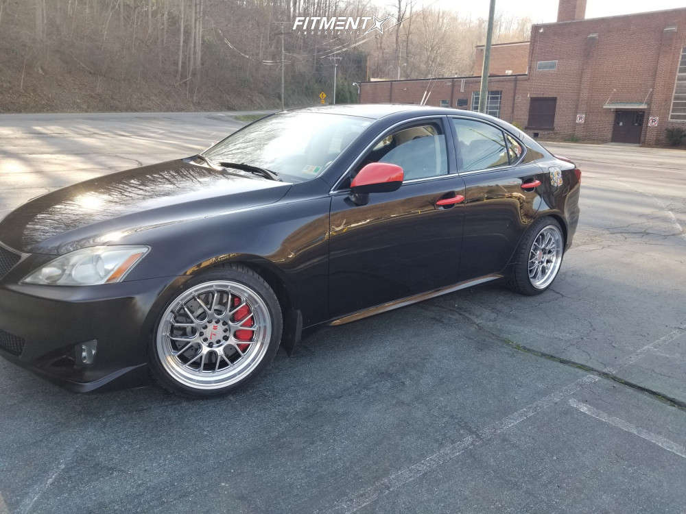 Flush 2007 Lexus IS350 with 18x8.5 F1R F21 and Falken Ziex Ze950 225/40 on Coilovers - Fitment Industries Gallery