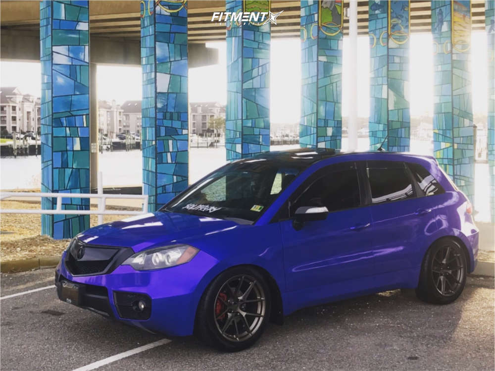 Nearly Flush 2011 Acura RDX with 19x9.5 Aodhan Ls007 and Ohtsu Fp8000 275/40 on Coilovers - Fitment Industries Gallery
