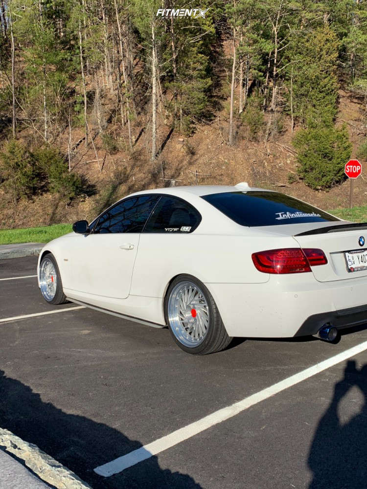 Nearly Flush 2011 BMW 335is with 19x9.5 Infinitewerks Mt and Hankook Ventus V12 Evo 2 235/35 on Stock Suspension - Fitment Industries Gallery