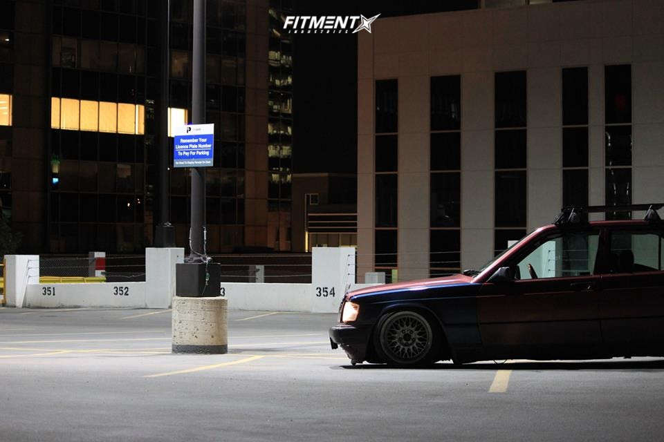 HellaFlush 1991 Mercedes-Benz 190E with 16x8.5 Ronal Other and Federal 595 Rs-r 195/45 on Lowering Springs - Fitment Industries Gallery