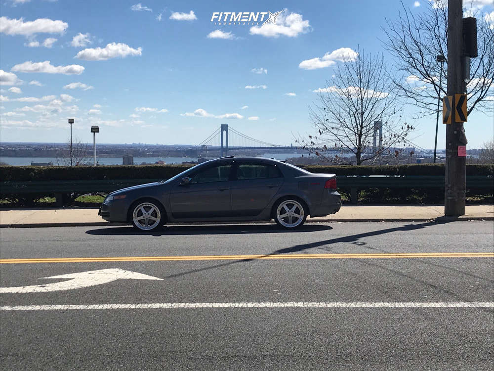 HellaFlush 2006 Acura TL with 19x8.5 ESR SR04 & Continental Extremecontact Dws06 235/35 on Stock Suspension - Fitment Industries Gallery