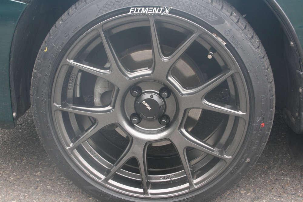Flush 2000 Acura Integra with 17x8 Konig Ampliform & Nankang NS-25 215/40 on Stock Suspension - Fitment Industries Gallery