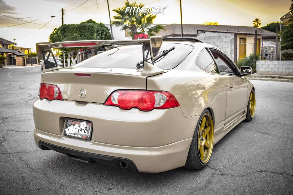 Flush 2004 Acura RSX with 18x8.5 ESR Sr07 & Falken Fk510 225/40 on Coilovers - Fitment Industries Gallery