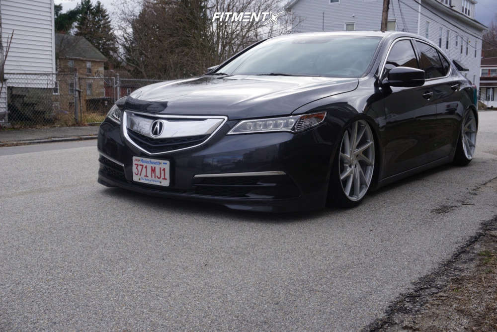 Tucked 2015 Acura TLX with 20x9 Niche Invert & Achilles Atr Sport 2 225/35 on Air Suspension - Fitment Industries Gallery