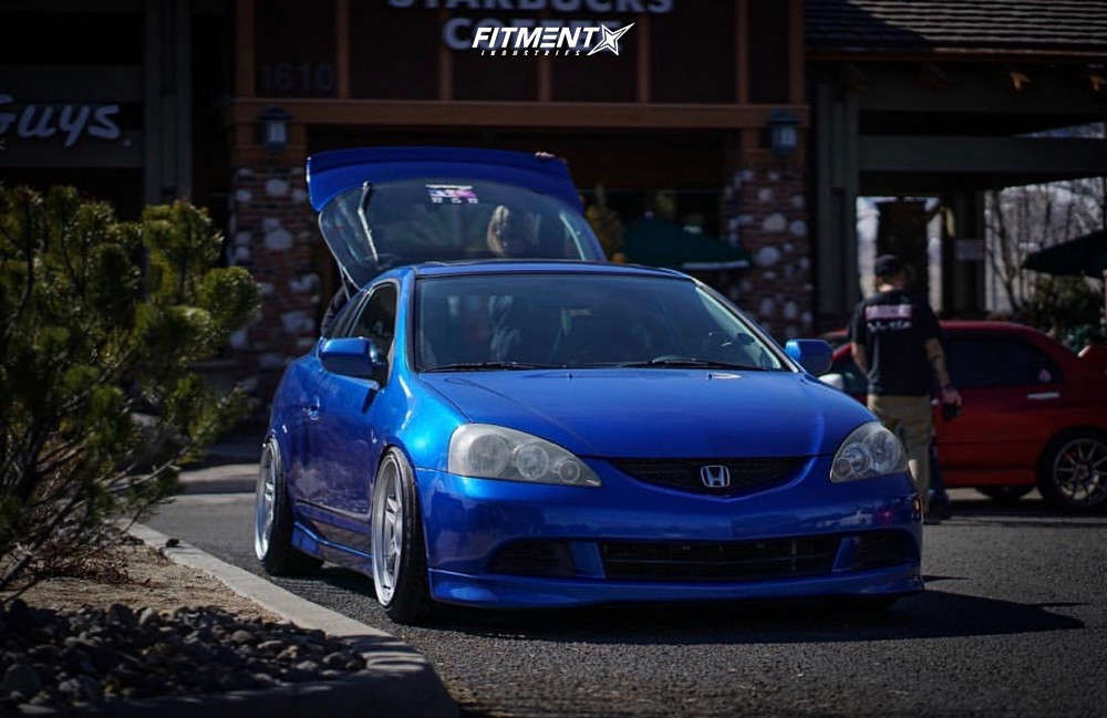 Nearly Flush 2006 Acura RSX with 18x9.5 Enkei RPF1 & Federal Ss595 225/40 on Coilovers - Fitment Industries Gallery