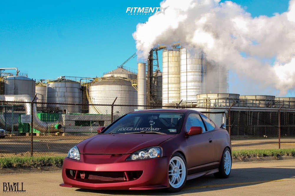 Nearly Flush 2006 Acura RSX with 17x8 Enkei RPF1 & Ohtsu FP7000 225/45 on Coilovers - Fitment Industries Gallery
