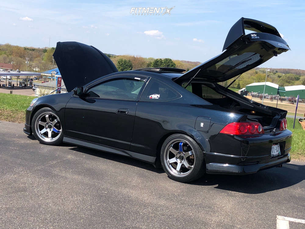 Flush 2006 Acura RSX with 17x8 ADV1 AV6 & Toyo Tires Celsius 215/45 on Lowering Springs - Fitment Industries Gallery