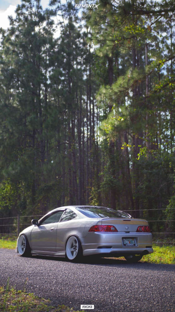 HellaFlush 2006 Acura RSX with 18x10 Cosmis Racing Xt-005r & Atlas Force Uhp 215/40 on Coilovers - Fitment Industries Gallery