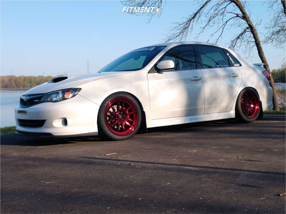 Tucked 2010 Subaru Impreza with 18x9 Cosmis Racing XT-206R & Federal Ss595 235/40 on Coilovers - Fitment Industries Gallery