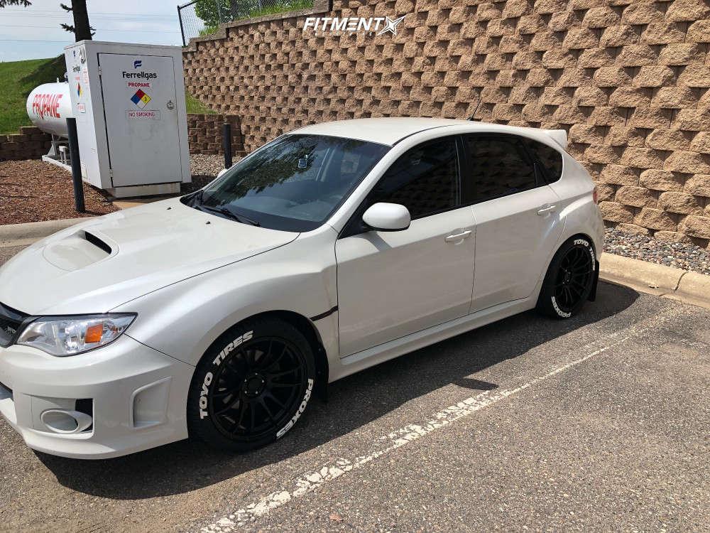 Flush 2014 Subaru Impreza with 18x9.5 AVID1 AV20 & Toyo Tires Proxes Sport 265/35 on Stock Suspension - Fitment Industries Gallery