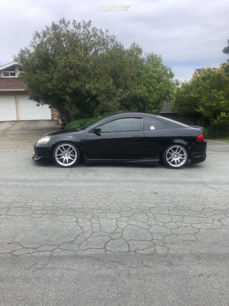 Nearly Flush 2006 Acura RSX with 18x9.5 ESR Sr08 & Achilles Atr Sport 215/40 on Coilovers - Fitment Industries Gallery