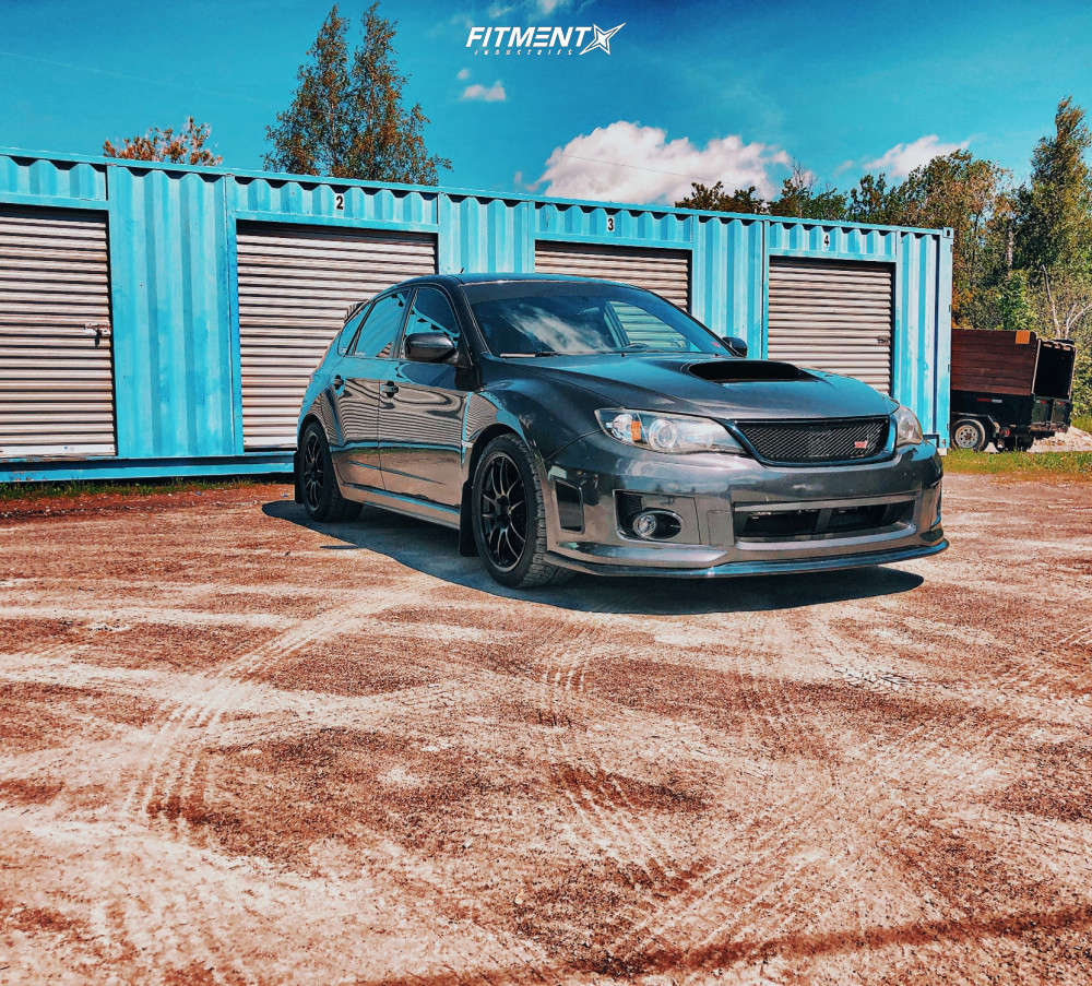 Nearly Flush 2011 Subaru WRX STI with 18x9.5 Enkei Pf01 & BFGoodrich G-force Comp-2 A/s 245/40 on Lowering Springs - Fitment Industries Gallery