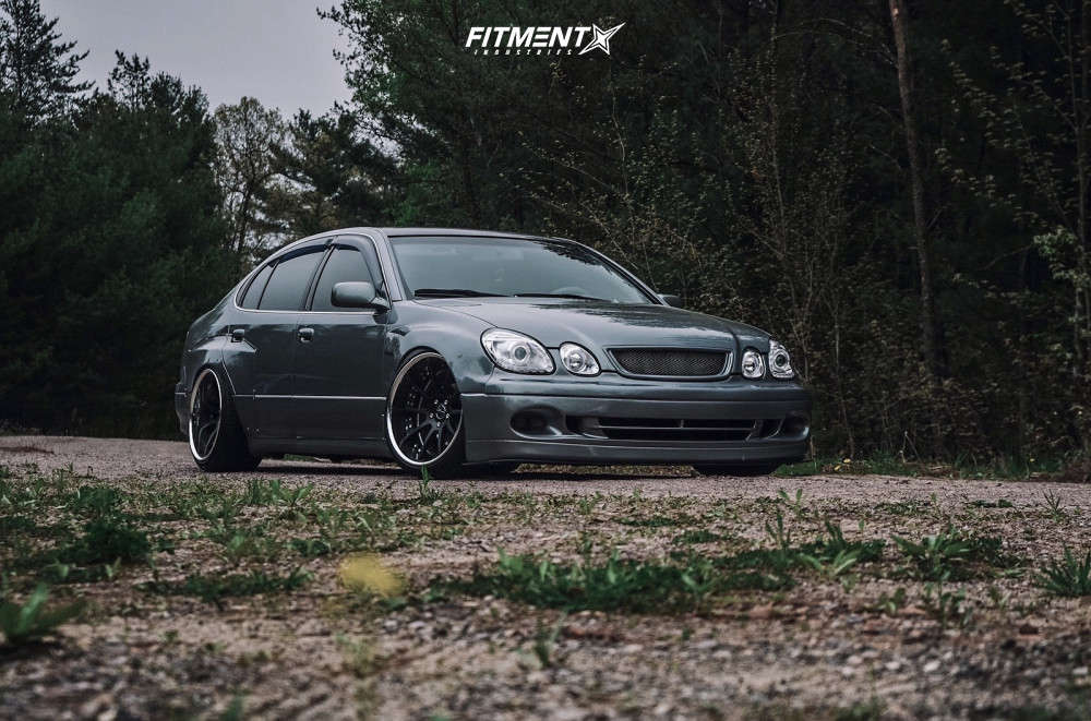 Flush 2001 Lexus GS300 with 19x10.5 SSR Executor CV01 & Achilles Atr Sport 245/35 on Coilovers - Fitment Industries Gallery