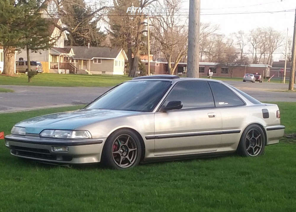 Flush 1990 Acura Integra with 15x7 Kosei K1 & Nitto Neo Gen 205/50 on Coilovers - Fitment Industries Gallery