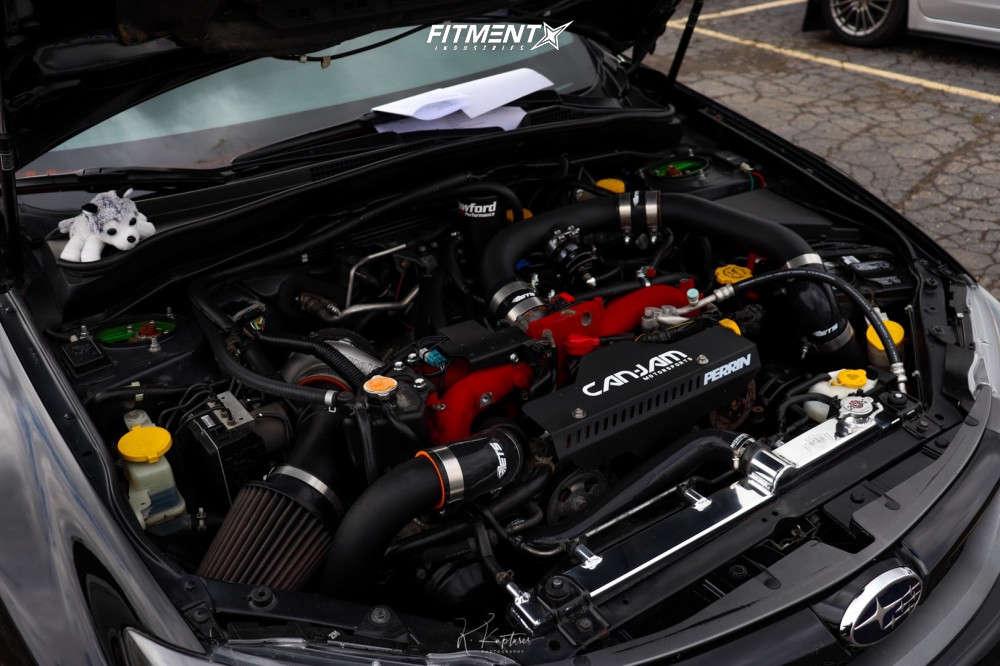 Poke 2011 Subaru WRX STI with 18x9.5 Cosmis Racing S1 & Hankook Ventus S1 Noble 2 225/40 on Coilovers - Fitment Industries Gallery