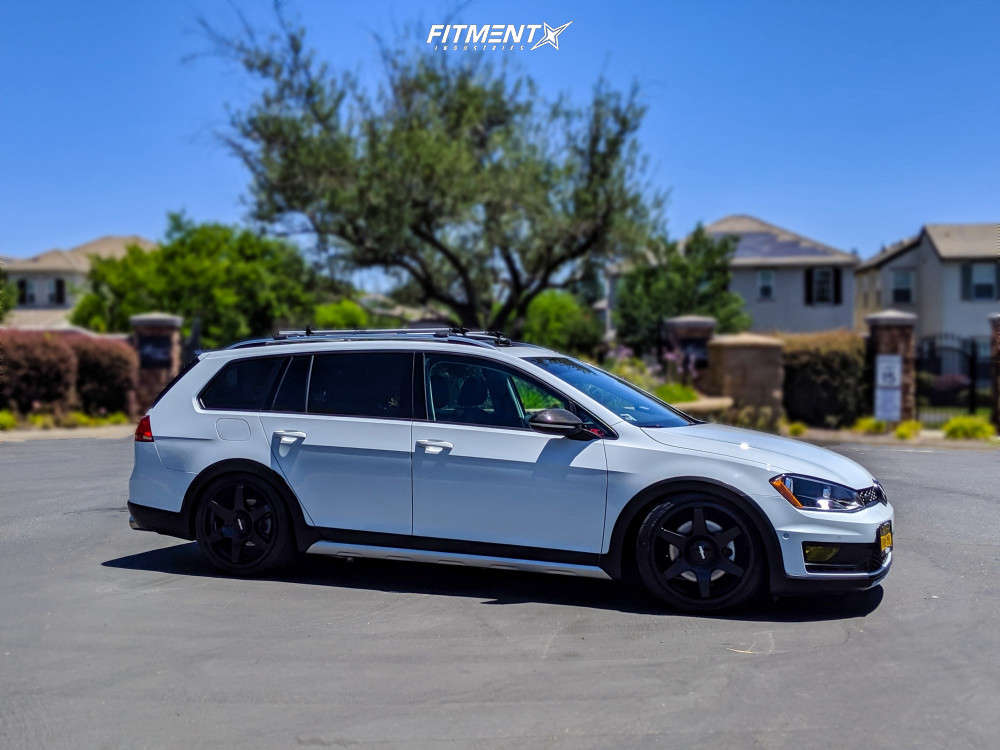 Flush 2017 Volkswagen Golf Alltrack with 18x8.5 Rotiform Six and Firestone Firehawk Indy 500 225/40 on Coilovers - Fitment Industries Gallery