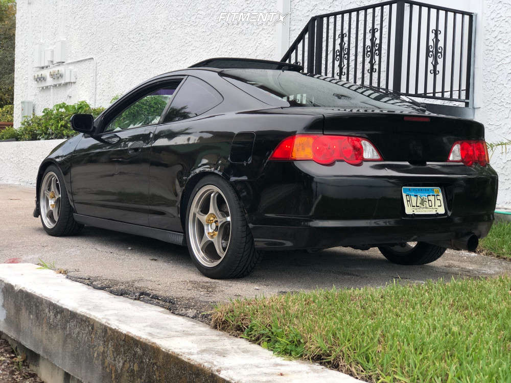 Tucked 2004 Acura RSX with 17x8 5zigen Fn01r-c & Achilles A/t Sport 215/45 on Coilovers - Fitment Industries Gallery