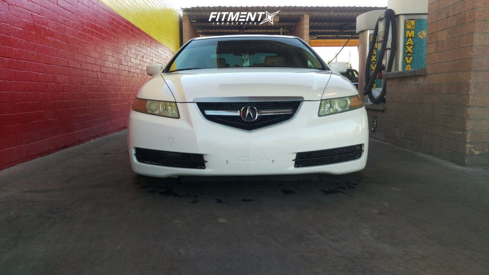 Poke 2006 Acura TL with 18x9.5 Aodhan Ds07 & Nankang NS-25 215/40 on Coilovers - Fitment Industries Gallery