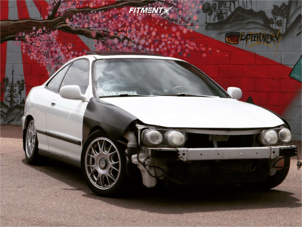 Tucked 1994 Acura Integra with 16x7 BBS Rf & Toyo Tires Proxes R888r 205/45 on Coilovers - Fitment Industries Gallery