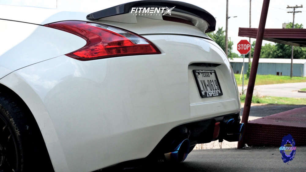 Poke 2009 Nissan 370Z with 19x10 Forgestar F14 & Hankook Ventus V12 Evo 2 255/35 on Lowering Springs - Fitment Industries Gallery
