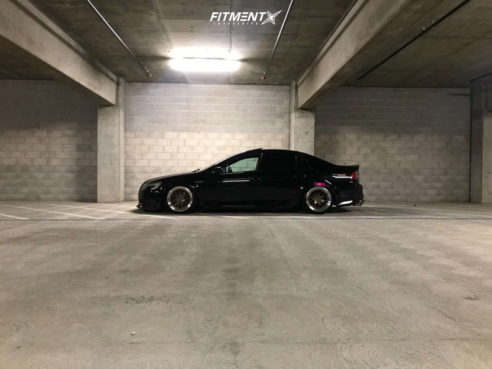 Nearly Flush 2006 Acura TL with 18x9.5 Aodhan DS06 & Delinte D7 Thunder 225/40 on Coilovers - Fitment Industries Gallery