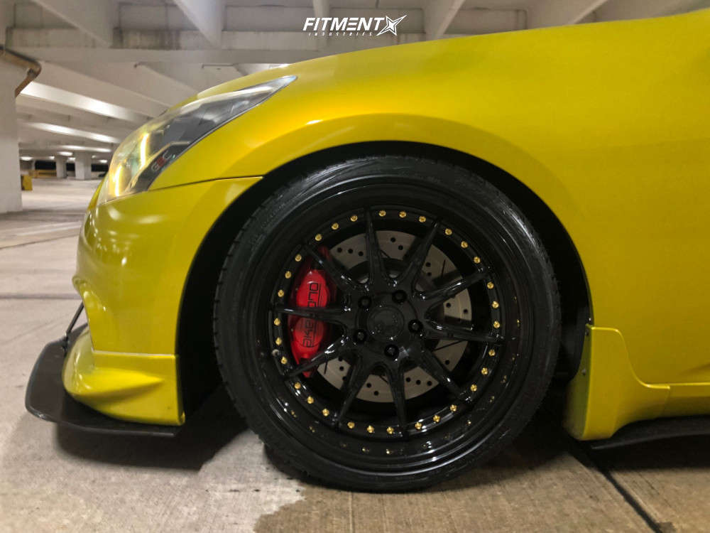 HellaFlush 2012 Infiniti G37 with 19x9.5 Aodhan Ds07 & Achilles Atr Sport 2 245/35 on Coilovers - Fitment Industries Gallery