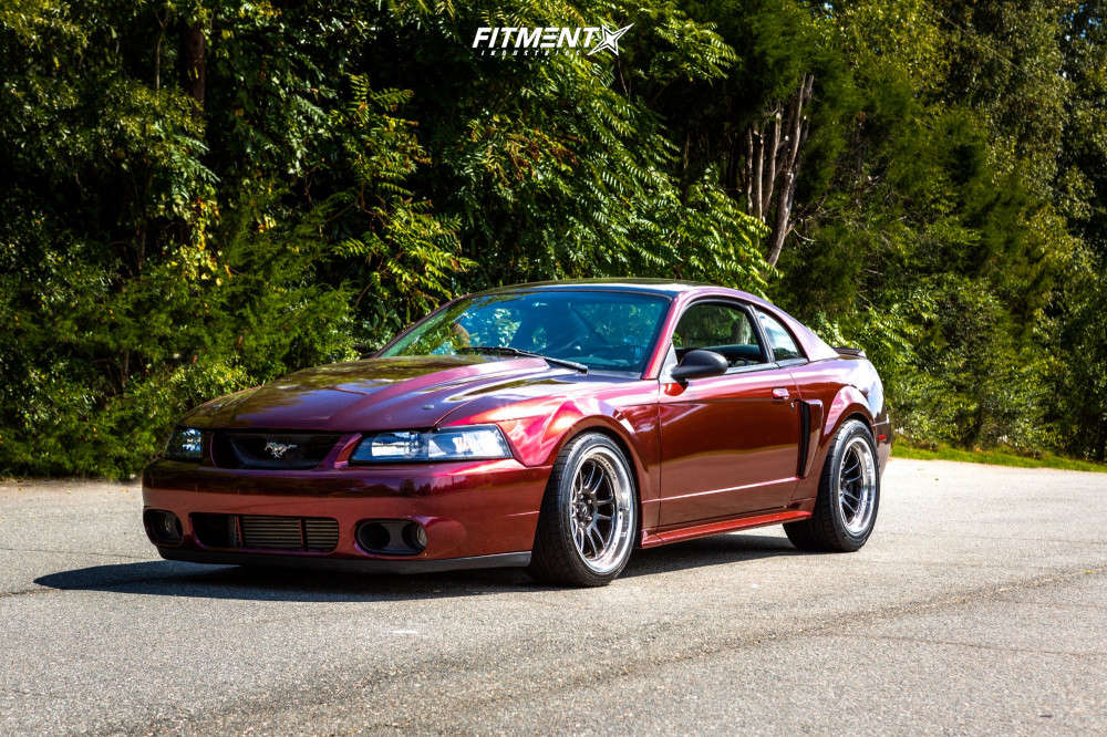 Nearly Flush 2001 Ford Mustang with 18x9.5 Cosmis Racing XT-206R & Nitto Nt555 G2 255/35 on Coilovers - Fitment Industries Gallery