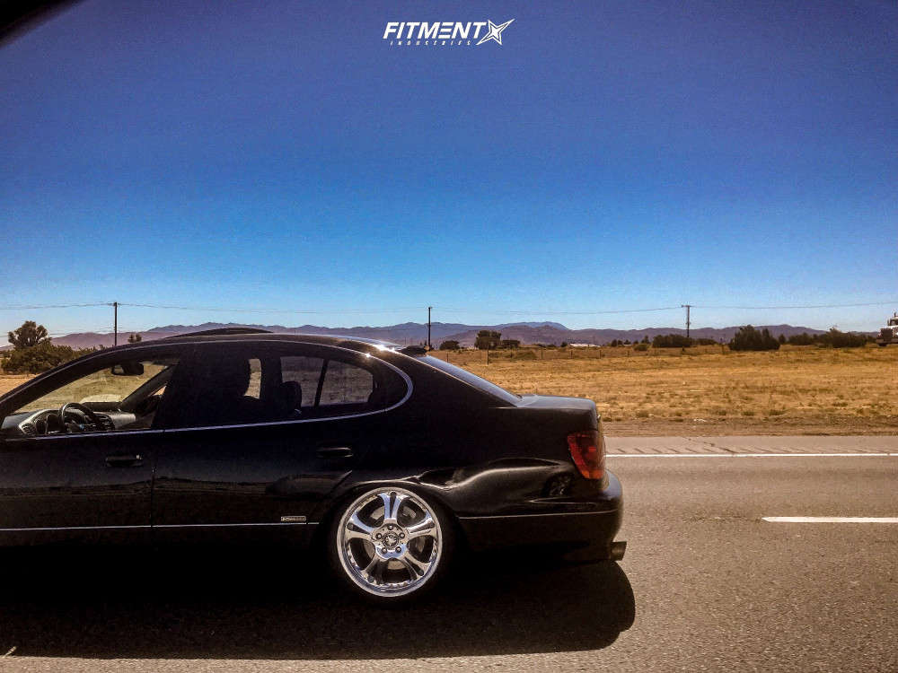 Tucked 2001 Lexus GS300 with 18x9 Weds Kranze Cerberus & Dunlop Direzza 215/40 on Coilovers - Fitment Industries Gallery