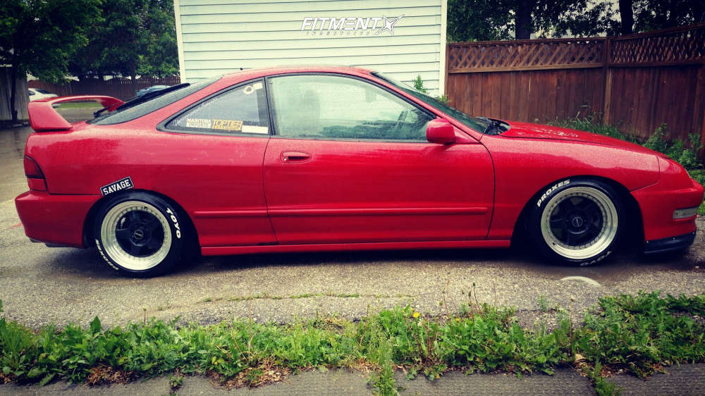 Flush 2000 Acura Integra with 15x8.5 Drag DR57 & Toyo Tires Proxes T1r 195/45 on Coilovers - Fitment Industries Gallery