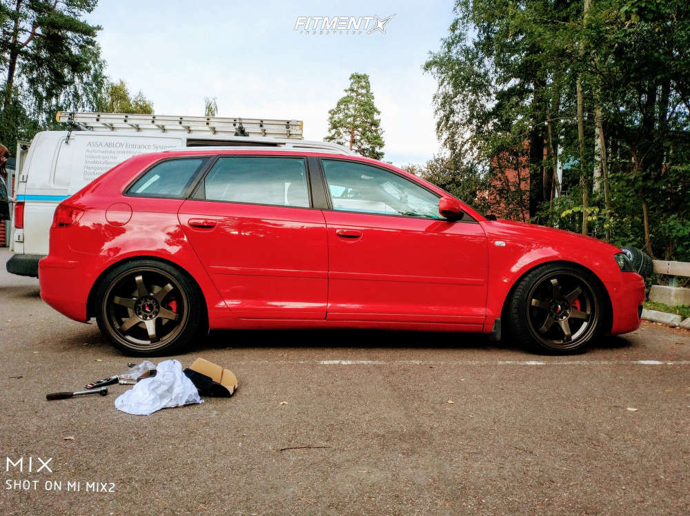 Nearly Flush 2006 Audi A3 Quattro with 18x9 Japan Racing Jr3 & Achilles Atr Sport 215/40 on Coilovers - Fitment Industries Gallery