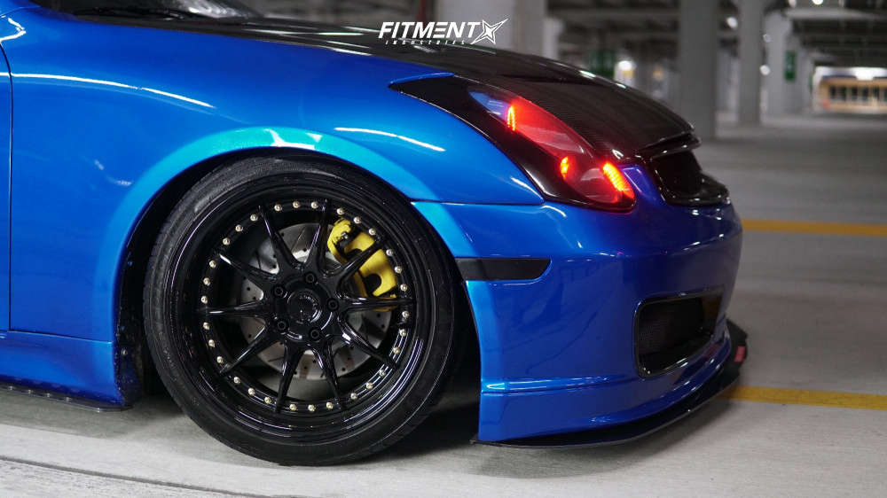 HellaFlush 2007 Infiniti G35 with 18x9.5 Aodhan Ds07 & Firestone All Season 225/40 on Coilovers - Fitment Industries Gallery