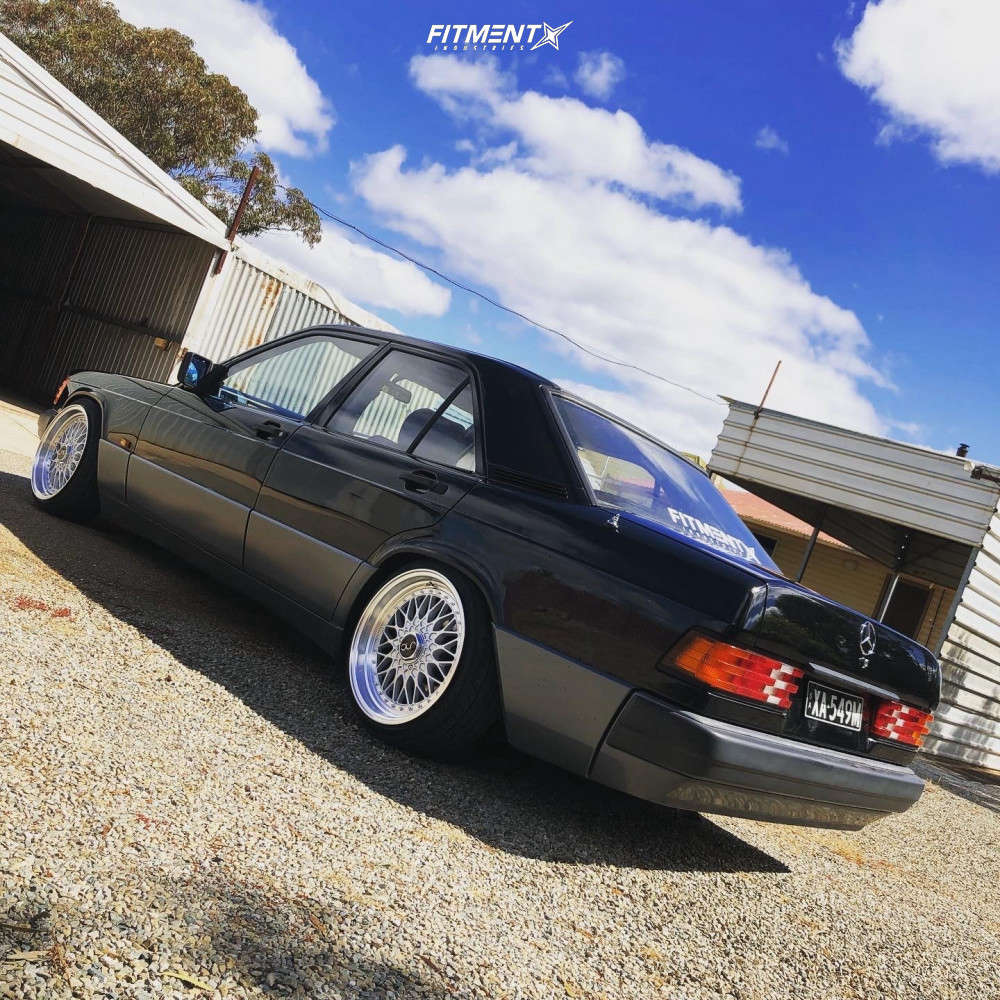 Nearly Flush 1993 Mercedes-Benz 190E with 17x8.5 JNC Jnc004 and Yokohama FLEVA V701 195/40 on Lowering Springs - Fitment Industries Gallery