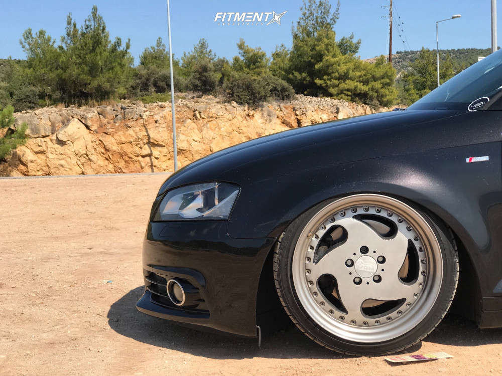 Tucked 2012 Audi A3 Quattro with 18x9.5 Mam Mt1 & Kumho Ecsta Le Sport 215/40 on Air Suspension - Fitment Industries Gallery