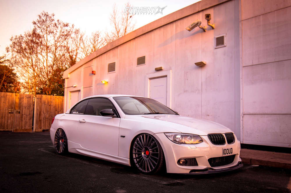 Tucked 2012 BMW 335is with 20x10.5 Rotiform Buc and Accelera 651 Sport 255/30 on Air Suspension - Fitment Industries Gallery