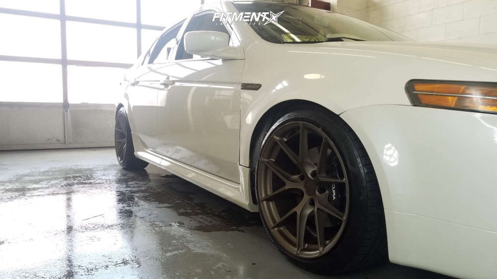 Flush 2006 Acura TL with 18x9 Aodhan Ls007 & Nankang NS-25 225/40 on Coilovers - Fitment Industries Gallery