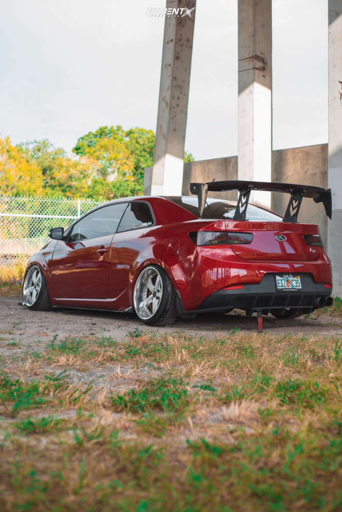 Tucked 2010 Kia Forte Koup with 18x9 SSR Vienna Courage & Achilles A/t Sport 205/35 on Coilovers - Fitment Industries Gallery