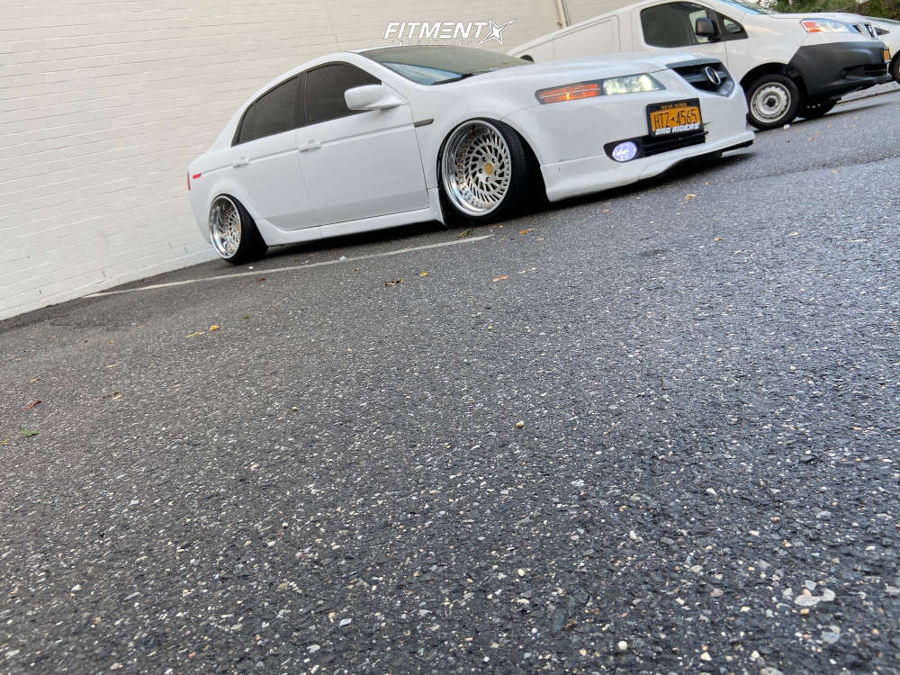 HellaFlush 2006 Acura TL with 18x11 WatercooledIND Lp1 & Achilles 868 All Seasons 215/35 on Air Suspension - Fitment Industries Gallery