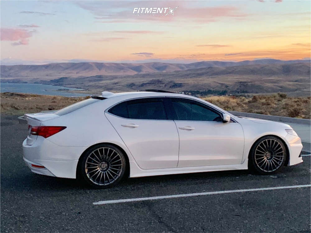 Nearly Flush 2015 Acura TLX with 20x8.5 Rotiform Buc & Nankang NS-25 245/35 on Coilovers - Fitment Industries Gallery