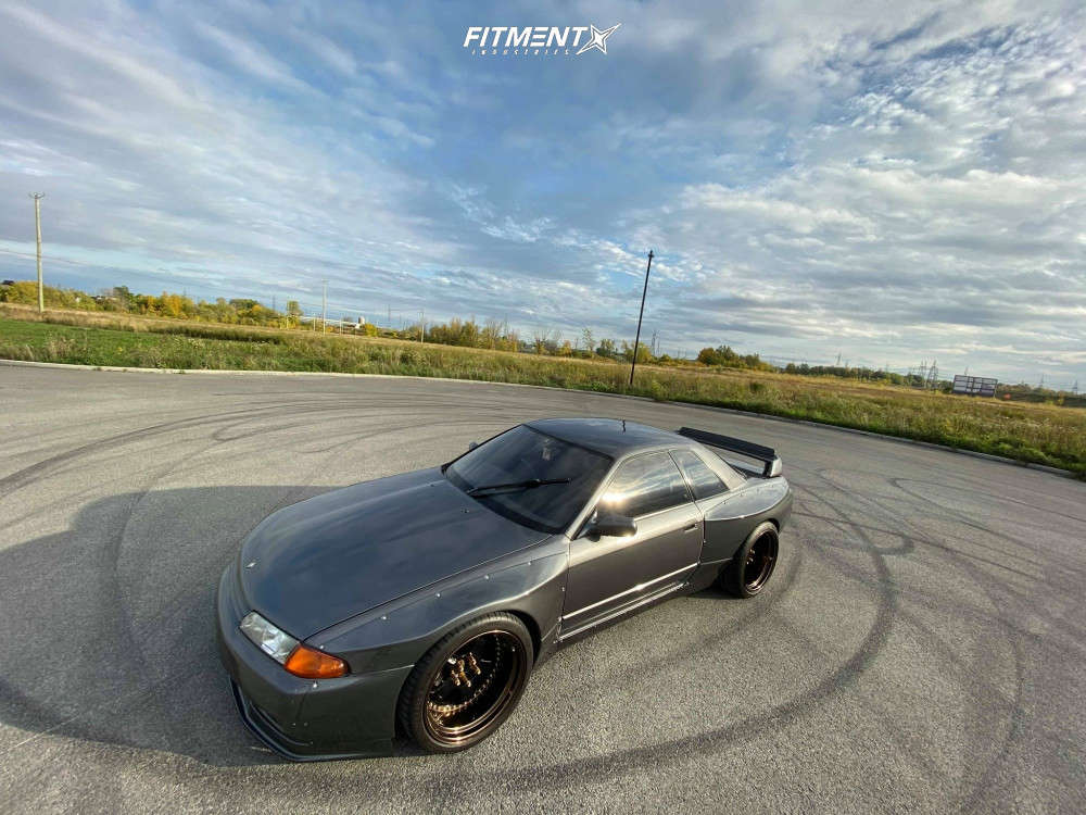 Flush 1992 Nissan Skyline R32 with 19x11 Work Meister S1 3P & Michelin Pilot Super Sport 295/30 on Coilovers - Fitment Industries Gallery