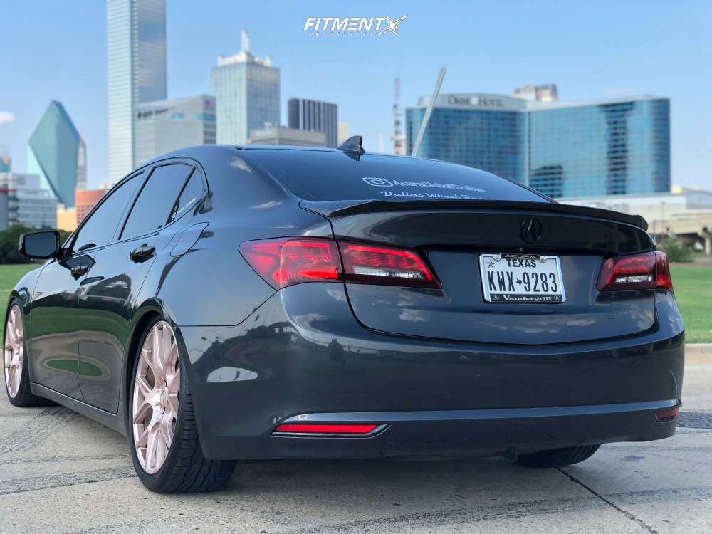 Tucked 2015 Acura TLX with 20x8.5 Voxx Lago & Toyo Tires Extensa Hp 255/35 on Coilovers - Fitment Industries Gallery