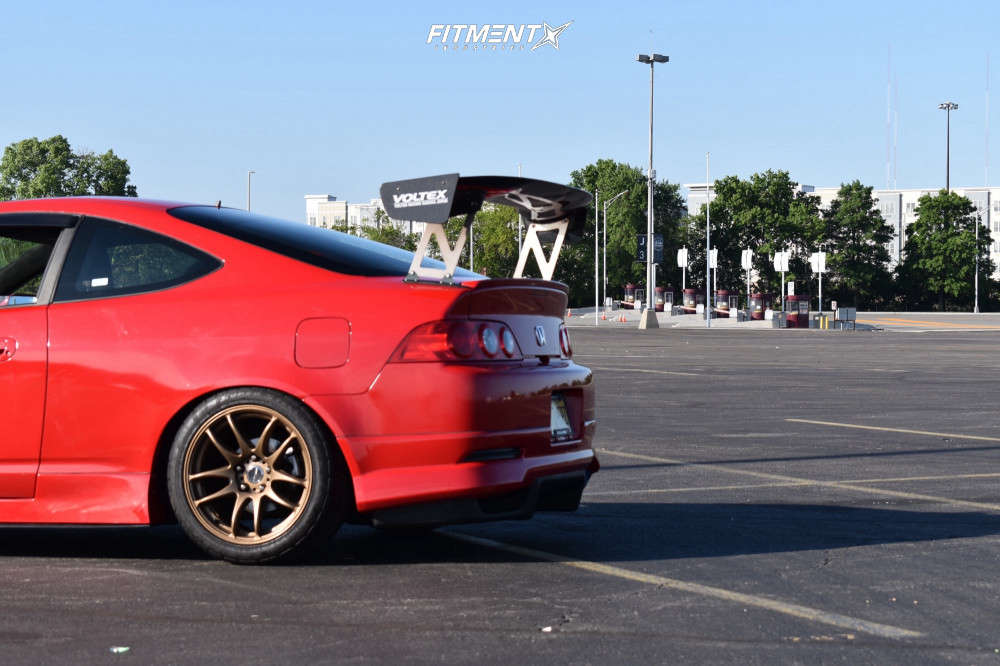 Flush 2006 Acura RSX with 17x9 Work Emotion Cr Kiwami & Federal 595 Ss 255/40 on Coilovers - Fitment Industries Gallery