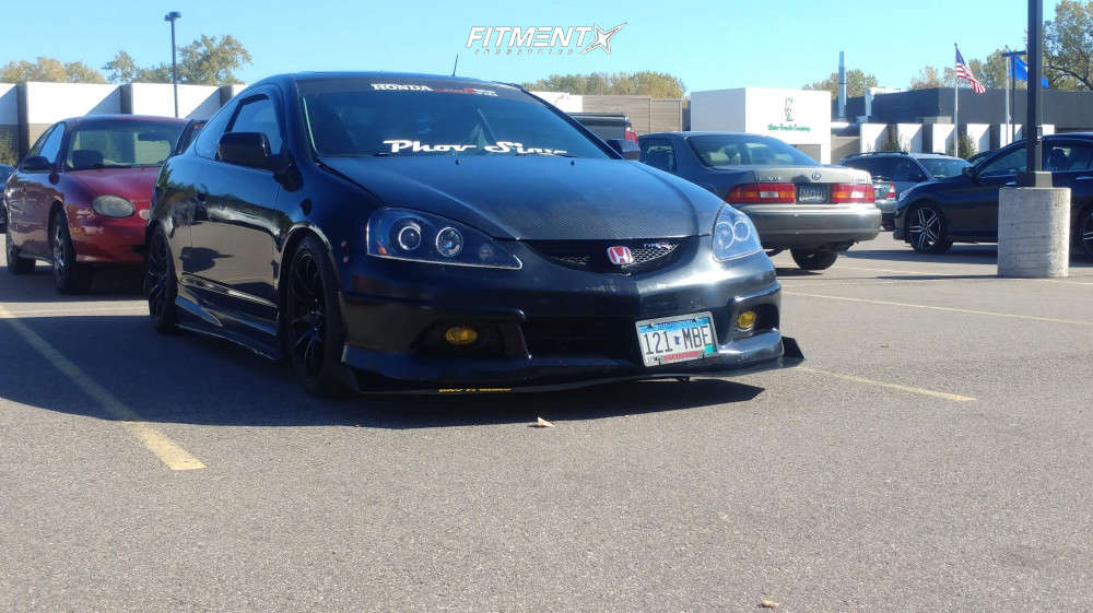 Tucked 2006 Acura RSX with 17x8 Vors Tr4 & Continental A/t Sport 215/45 on Coilovers - Fitment Industries Gallery