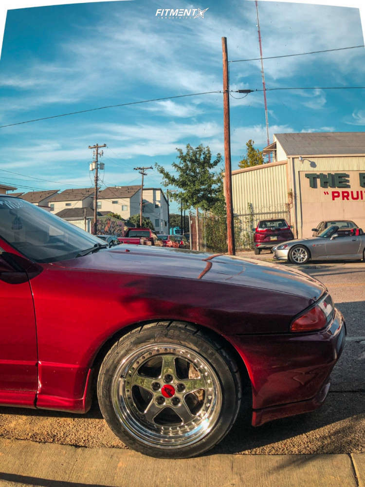 Poke 1991 Nissan GT-R with 17x10 Work BRS Poison and Federal FZ201 M 255/40 on Coilovers - Fitment Industries Gallery
